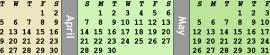 Monitor Calendars