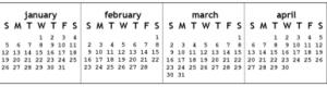 monitor calendar
