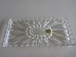 lead crystal rectangular cake plate