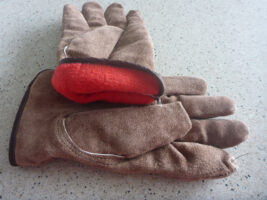 woman small lined leather work gloves